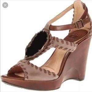 Frye heels - pepper agate stone